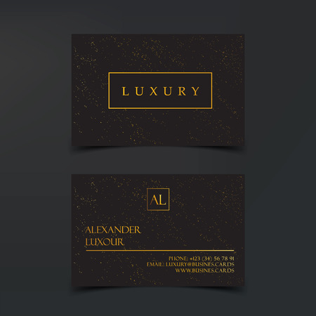 Luxury business cards vector template banner and cover with luxury business cards vector template banner and cover with golden dust texture and golden foil colourmoves
