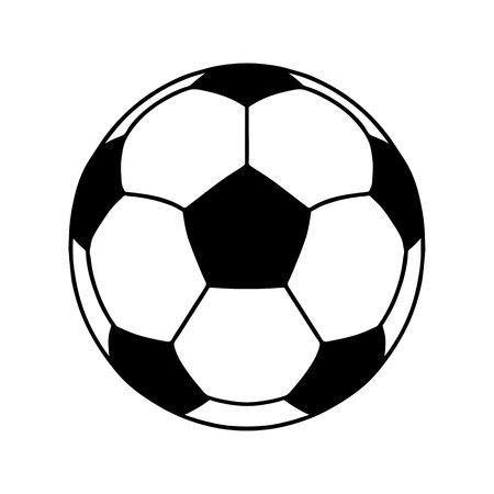 Soccer ball or football ball shape icon