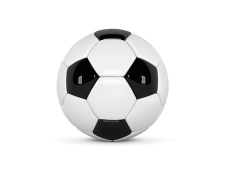 Realistic soccer ball image illustration