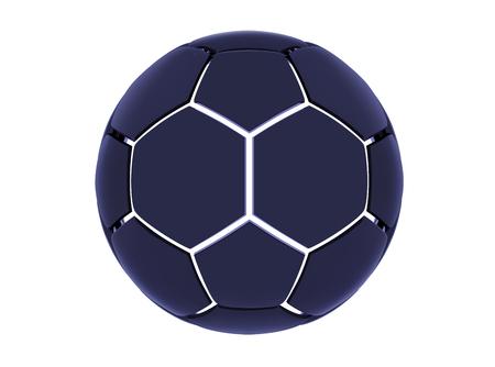 Vector futuristic sports concept of a soccer ball. Modern digital ball. High tech football ball design. Abstract Soccer Ball