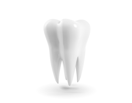 Vector Tooth, 3d Realistic Illustration. Dental, Medicine And Health Concept Design Element Isolated On A White Background