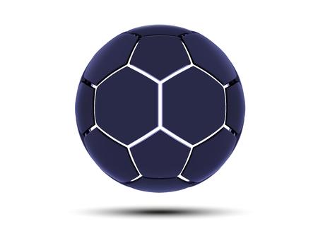 Vector futuristic sports concept of a soccer ball. Modern digital ball. High tech football ball design. Abstract Soccer Ball.