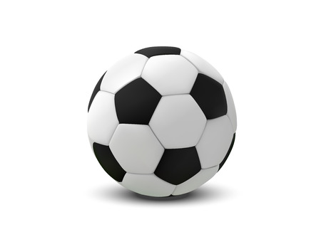 Realistic soccer ball or football ball on white background. 3d Style vector Ball isolated on white background 일러스트