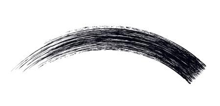 Mascara brush stroke design isolated on white. Stock Illustratie