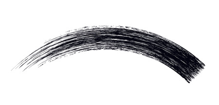 Mascara brush stroke design isolated on white.