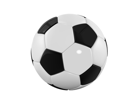 football bal. Realistic soccer ball on white background. 3d Style vector sport ball isolated on white background. Vektorové ilustrace
