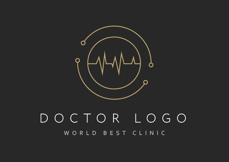 Cardiology icon isolated on black background. Cardiology vector logo. Flat design style. Modern vector pictogram for web graphics - stock vector