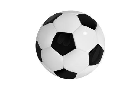 bal de futbol Balón de fútbol realista sobre fondo blanco. Balón de deporte de vector de estilo 3D aislado sobre fondo blanco