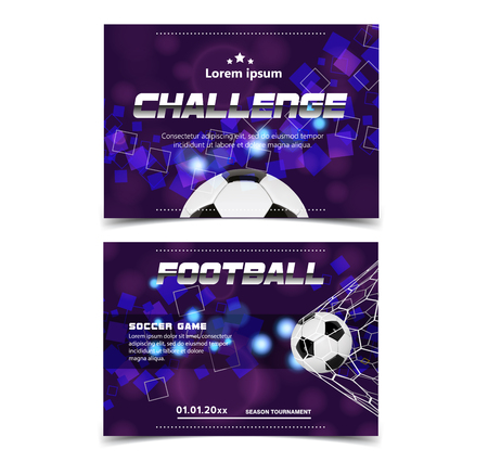 Soccer Poster design Vector. Football Ball. Design For Sport Bar Promotion. Tournament, Championship Flyer Design. soccer Club, Academy Flyer. Invitation Illustration Ilustrace