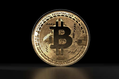 Bitcoin golden coin. Digital currency. Crypto currency.