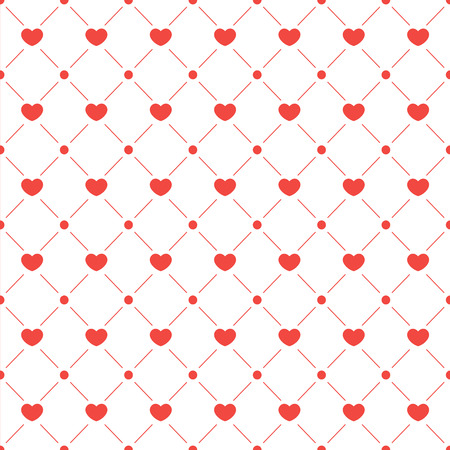 Seamless colorful hearts pattern.