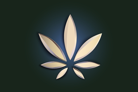 Stilvolles Cannabis-Marihuana-Hanfblatt-Flachsymbol oder Logo-Design. Logo