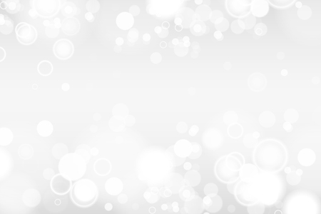 Silver and white bokeh lights defocused. Abstract background. Elegant, shiny, blurred light background. EPS 10