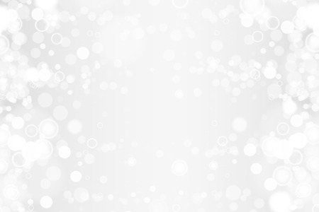 Silver and white bokeh lights defocused. Abstract background. Elegant, shiny, blurred light background. Magic christmas background. 写真素材 - 117339459
