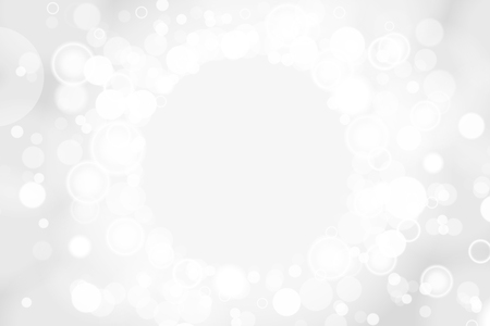 Silver and white bokeh lights defocused. Abstract background. Elegant, shiny, blurred light background. Magic christmas background. 写真素材