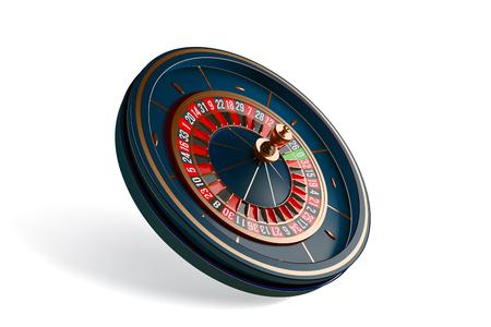 Luksusowa ruletka w kasynie na białym tle