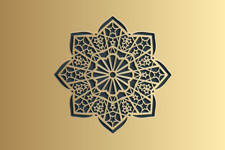 Ramadan islamic round pattern elements.