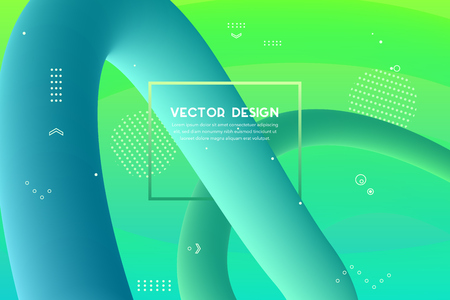 Dynamic 3D background with fluid shapes modern concept. minimal poster. Ideal for modern banner, web, header, page, cover, billboard, brochure Ilustracja