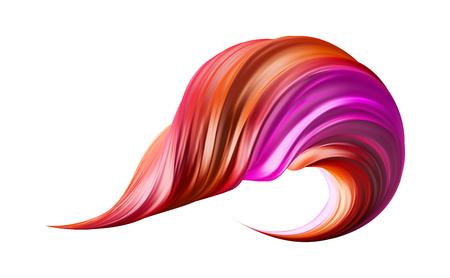 3d realistic brush stroke. Abstract vector digital color paint background. Modern colorful flow. Creative vivid 3d flow fluid paint wave. Trendy liquid banner template with gradient paint