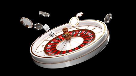 Luxury Casino roulette wheel isolated on black