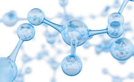 Abstract molecules design. Atoms.
