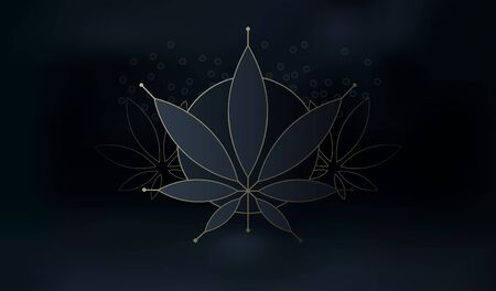 Cannabis black and gold silhouette ecology