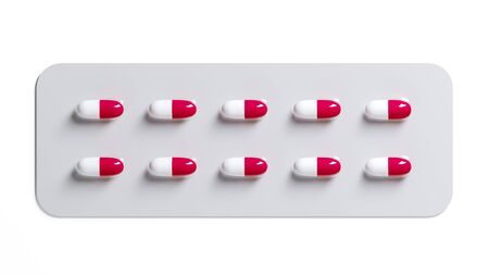 Medicine pills on white