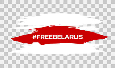 Belarus white-red-white flag. Elections in Belarus 2020. Long live Belarus. Symbol of protest and disagreement. Vector stock illustration.