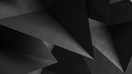 Abstract gray geometric shapes of triangles. Concrete background. 3d Rendering Reklamní fotografie