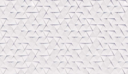Abstract triangular background with white triangles. Geometric 3d rendering.