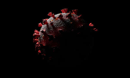 virus dramatic look from the dark, Premium 3d rendering illustration