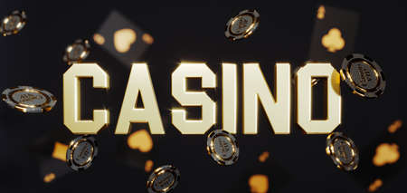 Luxury casino background. Poker chips falling Premium Photo