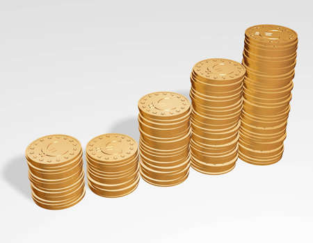 coins pile: coins pile Stock Photo