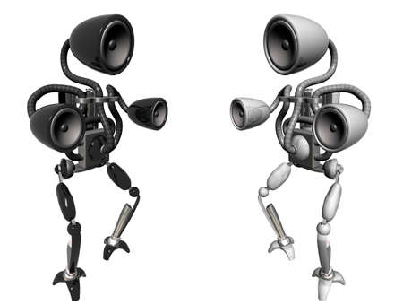 subwoofer: two sub-woofer robots