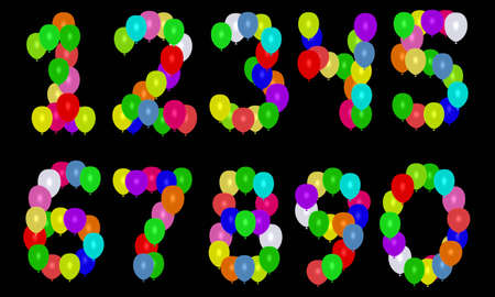 balloons numbers Stock Photo - 3007297