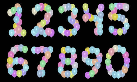 balloons numbers Stock Photo - 3014041
