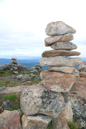 idols: stone idols on the top