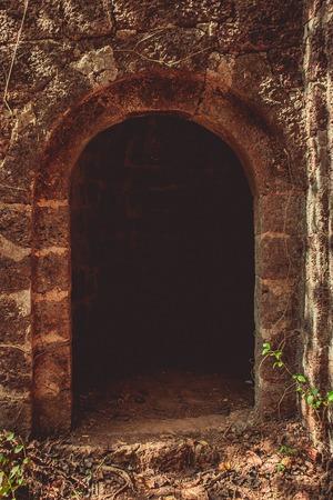 portuguese: Abandoned Portuguese fort. Maharashtra. India