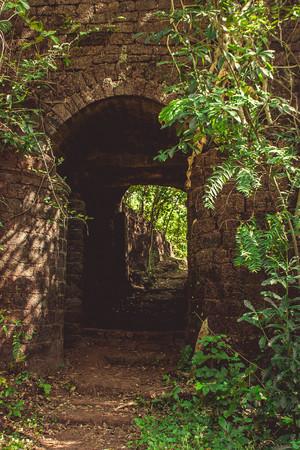 maharashtra: Abandoned Portuguese fort. Maharashtra. India