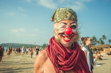 India, Goa - February 21, 2017 Annual Freak Carnival in Arambol Editorial