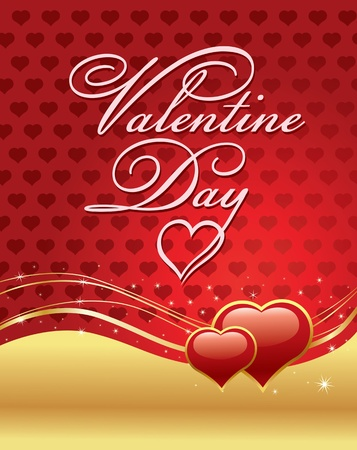 valentine card: valentine day card with red heart