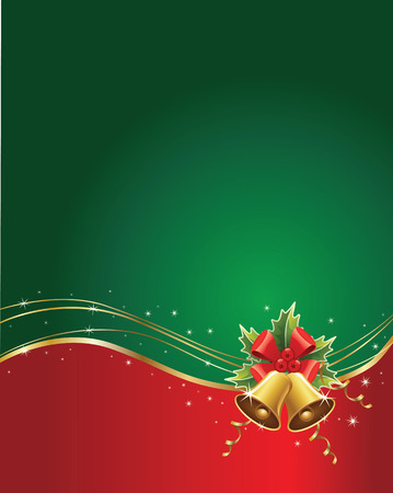 green and red: Merry christmas background Illustration