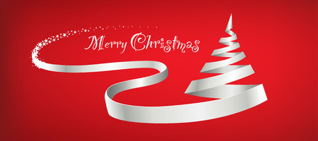 red christmas background: merry christmas background Illustration