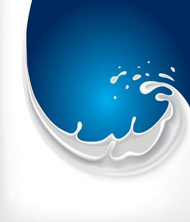 牛乳のスプラッシュの背景  イラスト・ベクター素材