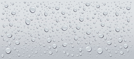 refreshed: gray water droplets background