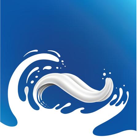 milkman: milk splash with tongue Illustration