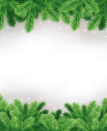 postcard background: Detailed Horizontally Seamless Christmas Garland