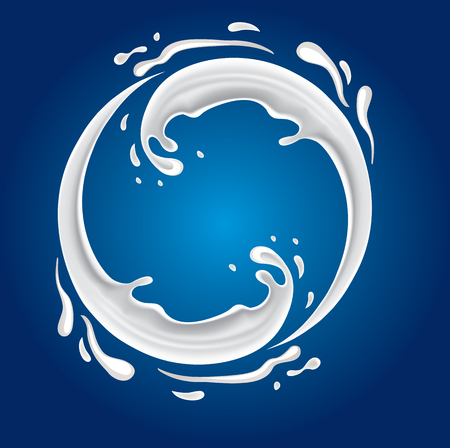leche: chapoteo de la leche con forma de c�rculo