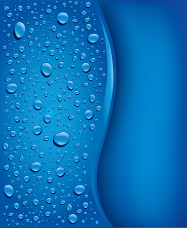 drops of water: blue water drops background Illustration