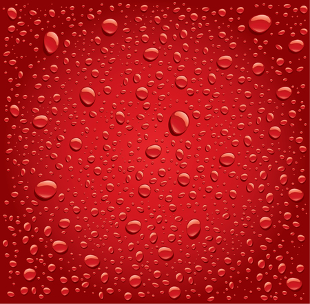 red water drops background Ilustração